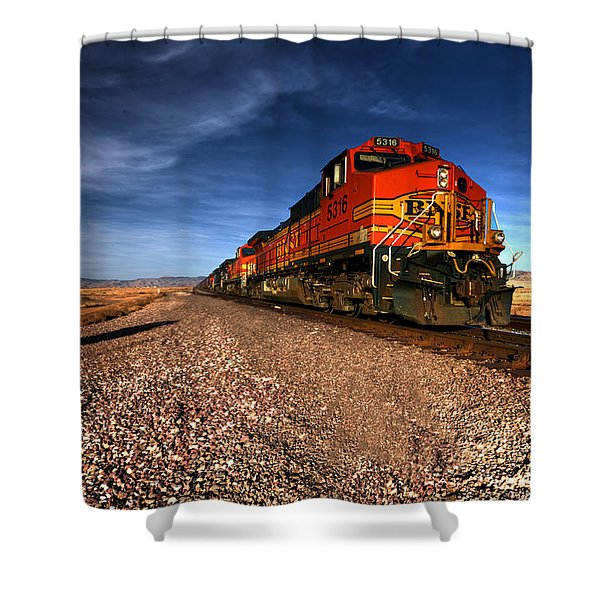 Bnsf Freight  Shower Curtain