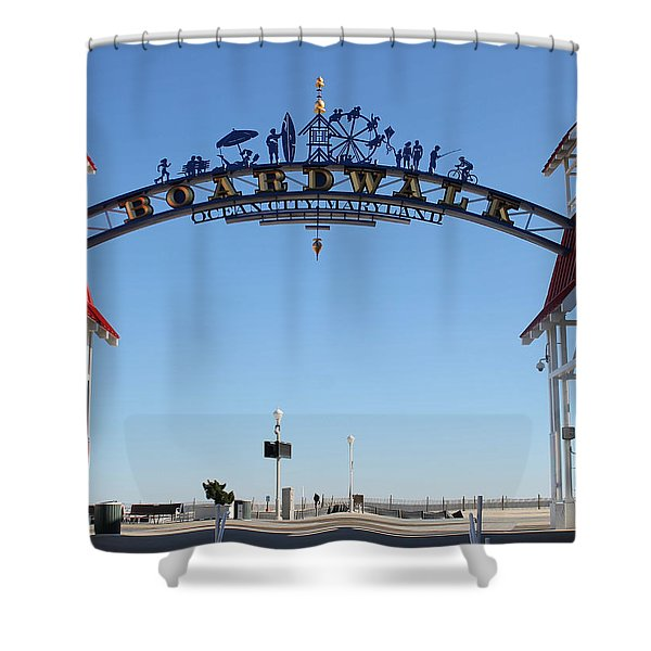 Boardwalk Arch At N Division St Shower Curtain