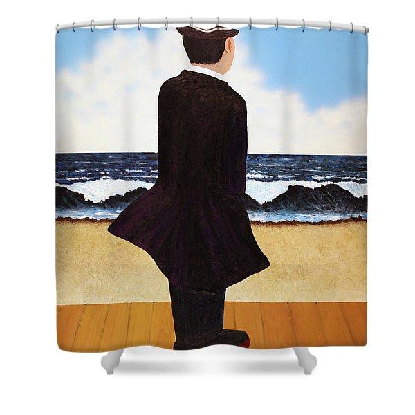 Boardwalk Man Shower Curtain