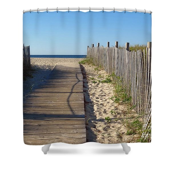 Boardwalk On The Cape Shower Curtain