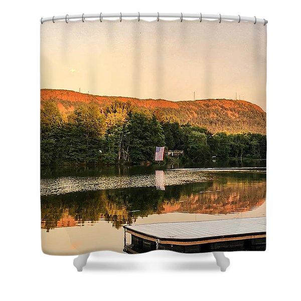Boardwalk Sunset Shower Curtain
