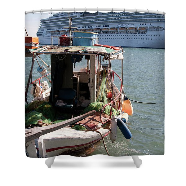 Boat And Ship Shower Curtain