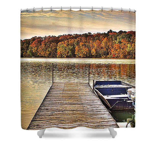 Boat Dock Le-aqua-na II Shower Curtain