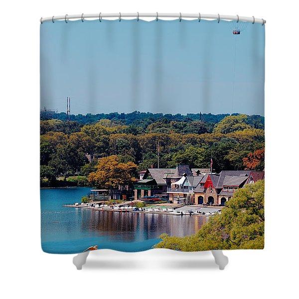 Boat House Row Shower Curtain
