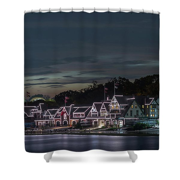 Boathouse Row Philly Pa Night Shower Curtain