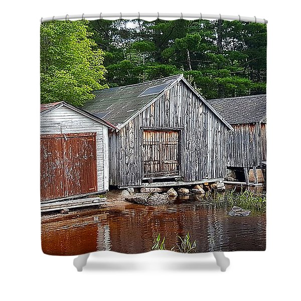 Boathouses - Mcadam Nb Shower Curtain