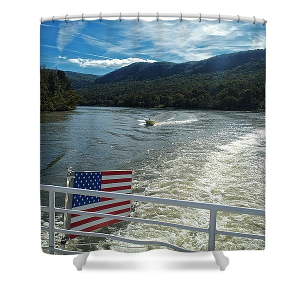 Boating On The River Shower Curtain