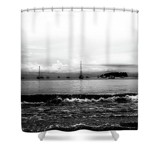 Boats And Clouds Shower Curtain