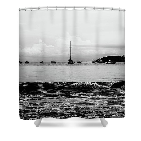 Boats And Waves 2 Shower Curtain