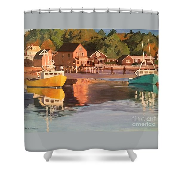 Boats In Kennebunkport Harbor Shower Curtain