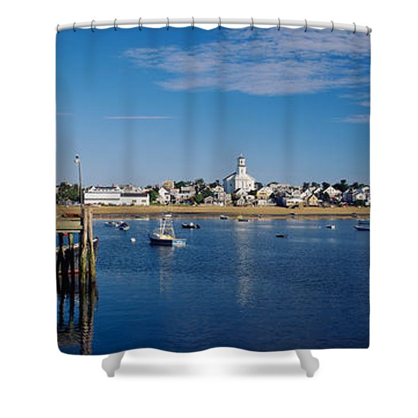 Boats In The Sea, Provincetown, Cape Shower Curtain