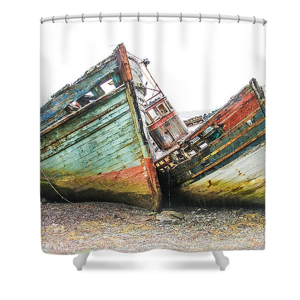 Boats Isle Of Mull 4 Shower Curtain
