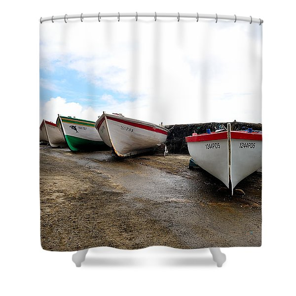 Boats,fishing-24 Shower Curtain