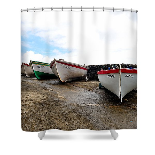 Boats,fishing-24 Shower Curtain