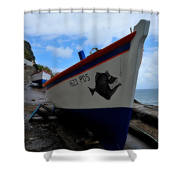Boats,fishing-26 Shower Curtain