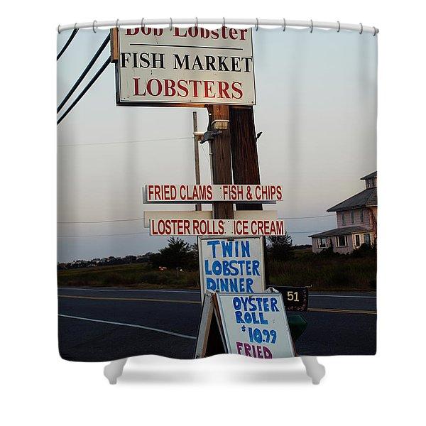 Bob Lobster Fish Market Shower Curtain