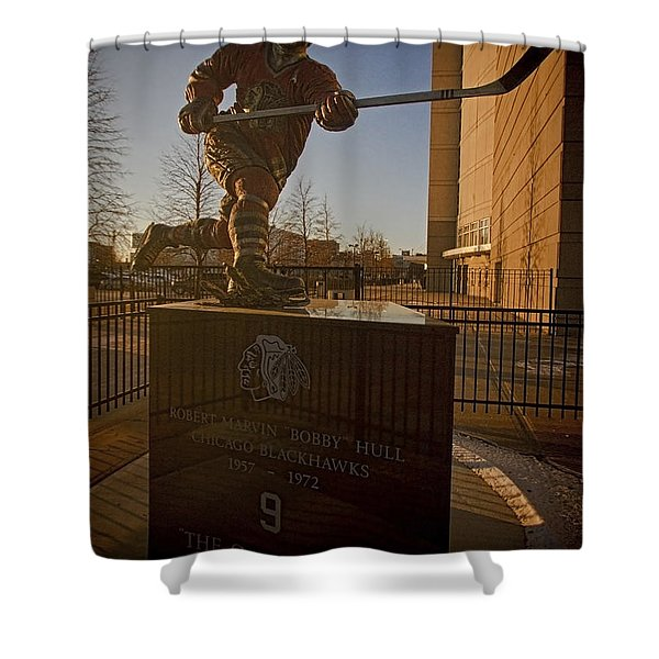 Bobby Hull Sculpture Shower Curtain