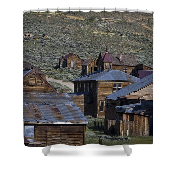 Shower Curtain featuring the photograph Bodie 31 by Catherine Sobredo