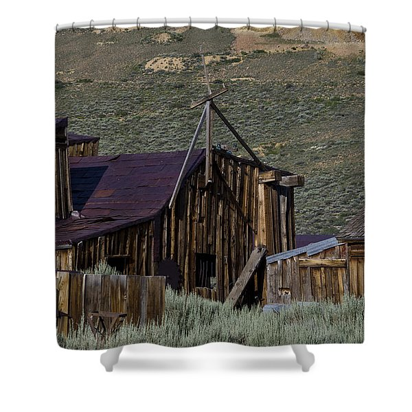 Shower Curtain featuring the photograph Bodie 33 by Catherine Sobredo