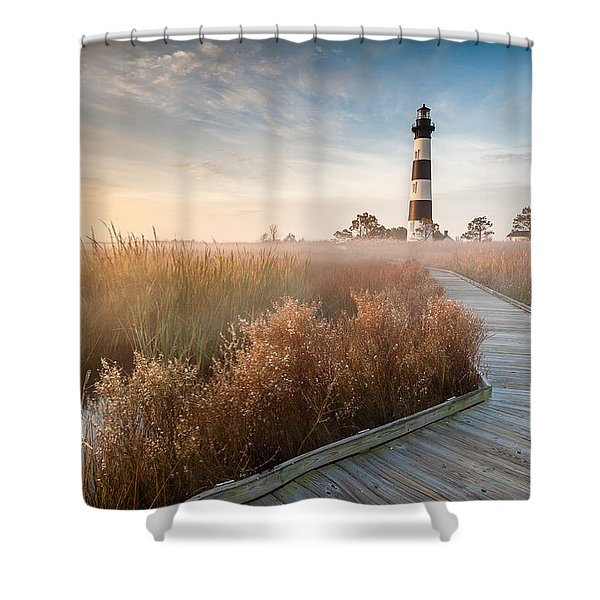Outer Banks North Carolina Bodie Island Lighthouse Shower Curtain