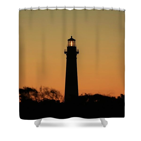 Bodie Light At Sunset Shower Curtain