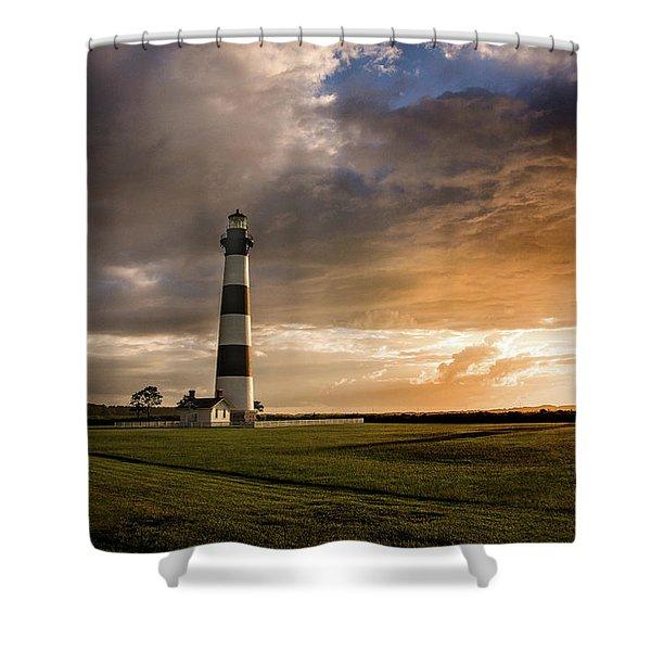 Bodie Lighthous Landscape Shower Curtain