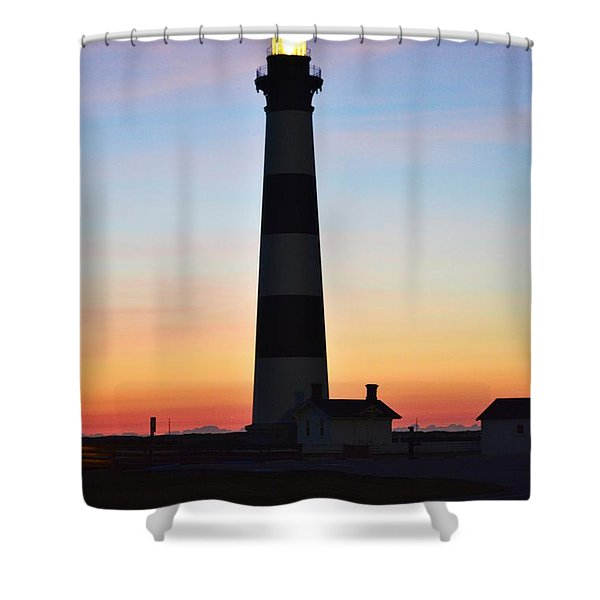 Bodie Lighthouse At Sunrise Shower Curtain