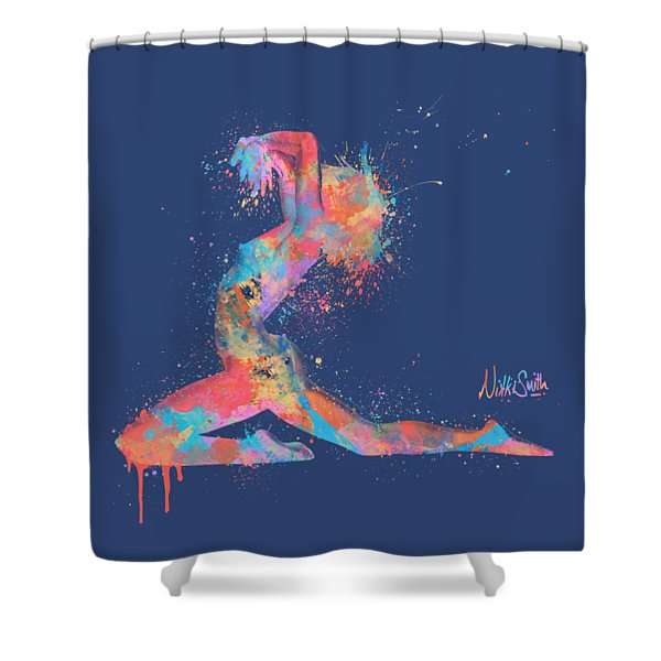 Bodyscape In D Minor - Music Of The Body Shower Curtain