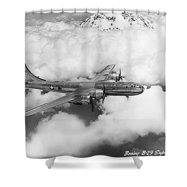 Boeing B-29 Superfortress Shower Curtain