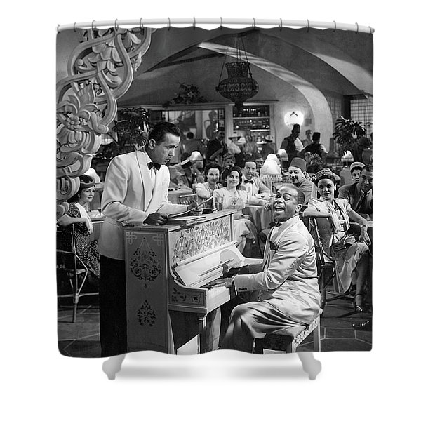 Bogart Dooley Wilson Casablanca 1942 Shower Curtain
