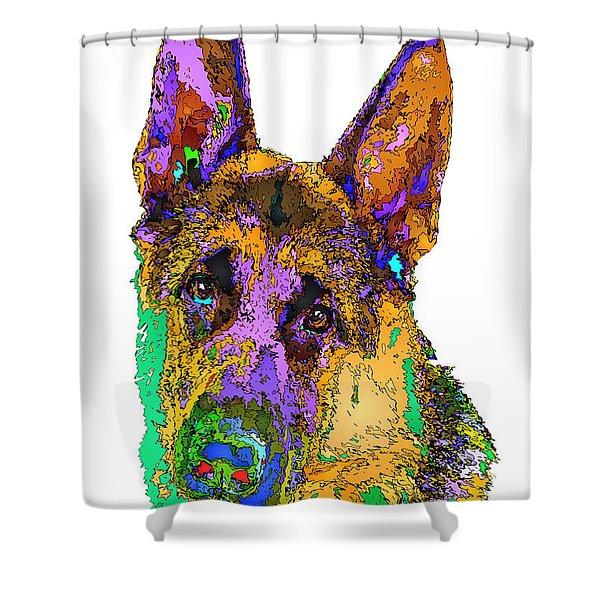 Bogart The Shepherd. Pet Series Shower Curtain