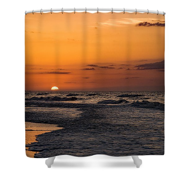 Bogue Banks Sunrise Shower Curtain