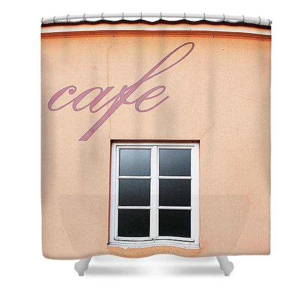 Bohemian Cafe- By Linda Woods Shower Curtain