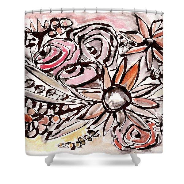 Bohemian Garden 1- Art By Linda Woods Shower Curtain