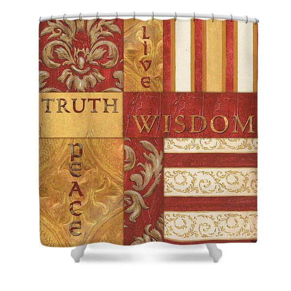 Bohemian Red Spice 2 Shower Curtain