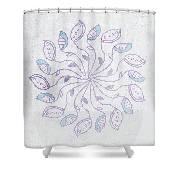 Boho Floral Mandala 3- Art By Linda Woods Shower Curtain