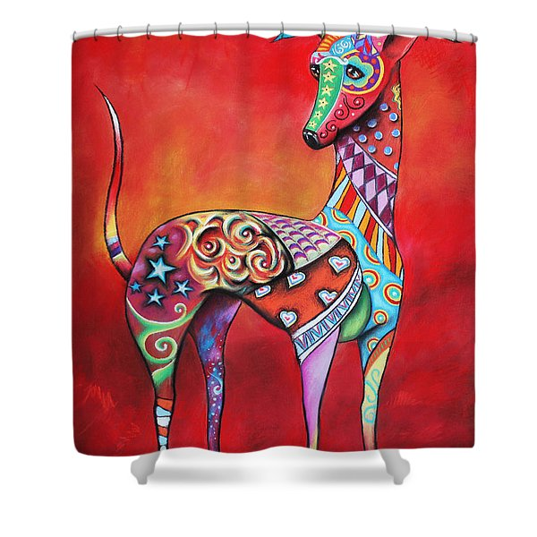 Italian Greyhound  Shower Curtain