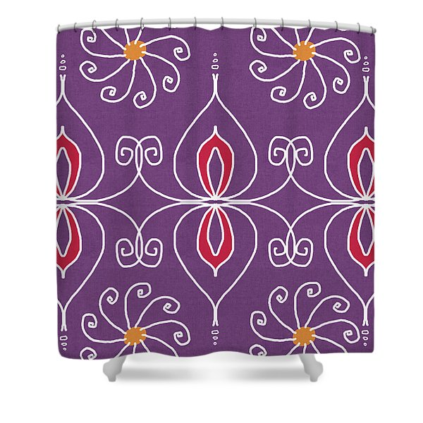 Boho Ornamental 2- Art By Linda Woods Shower Curtain