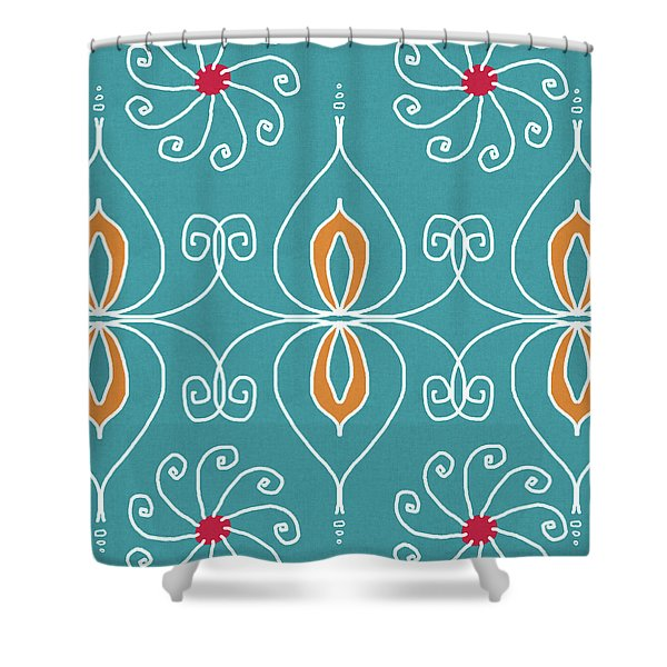 Boho Ornamental 3- Art By Linda Woods Shower Curtain