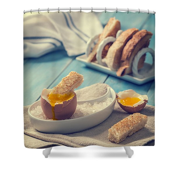 Boiled Egg Shower Curtain