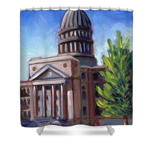 Boise Capitol Building 01 Shower Curtain