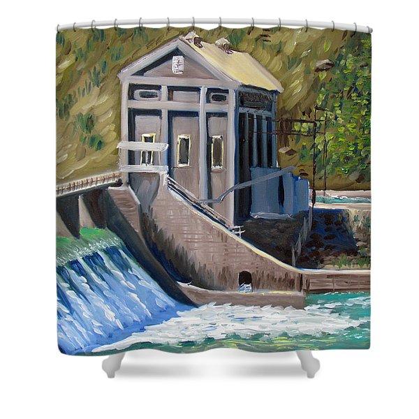 Boise Diversion Dam Shower Curtain