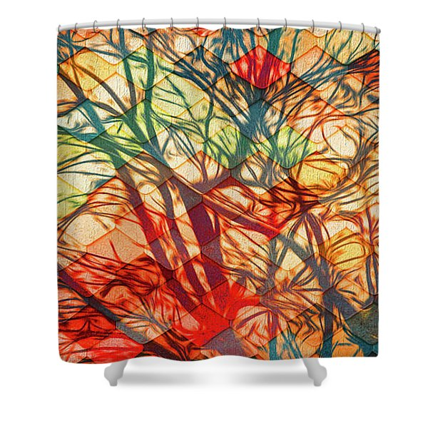 Bold And Colorful Shower Curtain