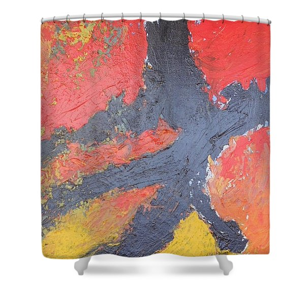 Bold Experiment Shower Curtain