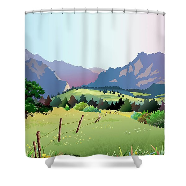 Bolder Boulder Poster 2009 Shower Curtain
