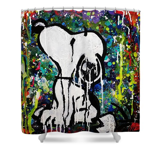 Bold.snoopy Shower Curtain