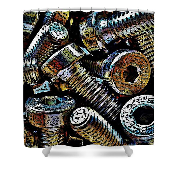 Boltz Shower Curtain