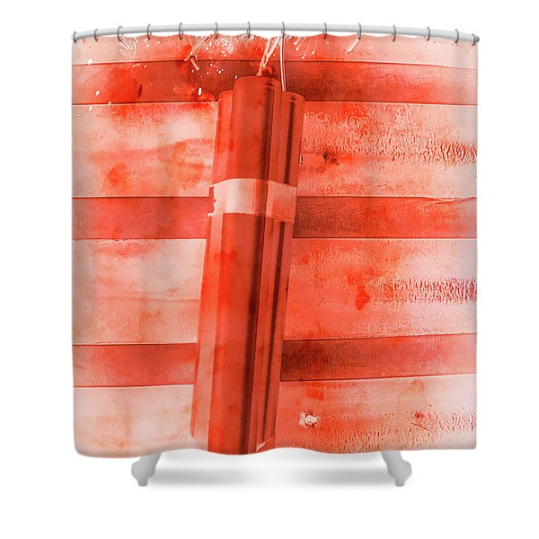 Bomb Of The Betrayal Shower Curtain