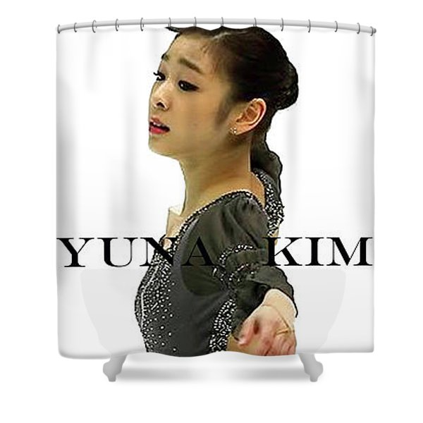Bond Girl, Yuna Kim, Olympic Champion Shower Curtain