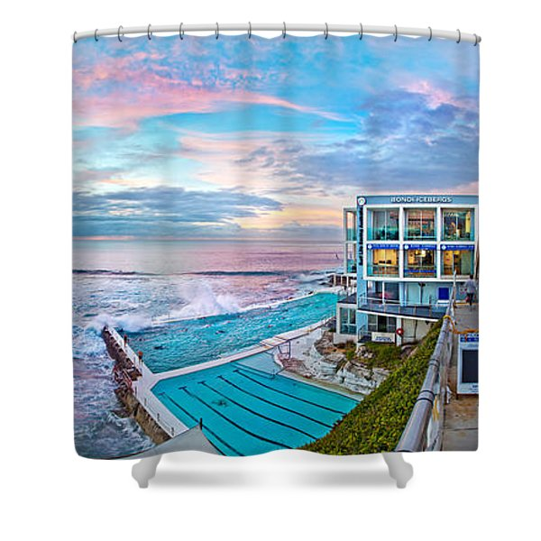 Bondi Beach Icebergs Shower Curtain